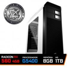 Pc Gamer Tera Edition Intel Pentium G5400 / Radeon Rx 560 4GB / DDR4 8GB / HD 1TB / 500W