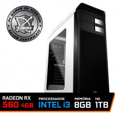 Pc Gamer Tera Edition Intel I3 9100F / Radeon Rx 560 4GB / DDR4 8GB / HD 1TB / 500W