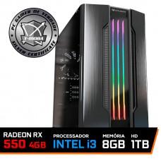Pc Gamer Tera Edition Intel I3 9100F / Radeon Rx 550 4GB / DDR4 8GB / HD 1TB / 500W