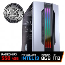 Pc Gamer Tera Edition Intel I3 9100F / Radeon Rx 550 4GB / DDR4 8GB / HD 1TB / 500W