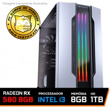 PC Gamer Tera Edition Intel i3 9100F / Radeon Rx 580 8gb / Memória 8GB DDR4 / HD 1TB / 550W