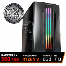 Pc Gamer Tera Edition Amd Ryzen 3 2200G / Radeon RX 560 4GB / DDR4 8GB / HD 1TB / 500W