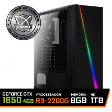 Pc Gamer T-Moba Dominator LVL-3 AMD Ryzen 3 2200G / Geforce GTX 1650 4GB / DDR4 8GB / HD 1TB / 500W