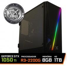 Pc Gamer T-Moba Dominator LVL-2 AMD Ryzen 3 2200G / Geforce GTX 1050 Ti 4GB / DDR4 8GB / HD 1TB