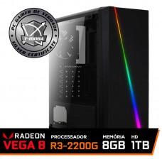 Pc Gamer T-Moba Dominator LVL-1 AMD Ryzen 3 2200G / DDR4 8GB / HD 1TB / 500W