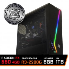 Pc Gamer T-Moba Dominator LVL-4 AMD Ryzen 3 2200G / Radeon Rx 550 4GB  / DDR4 8GB / HD 1TB