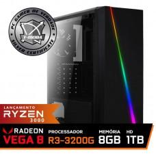 Pc Gamer T-Moba Super Dominator LVL-1 AMD Ryzen 3 3200G / DDR4 8GB / HD 1TB / 500W / RZ3