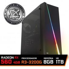Pc Gamer T-Moba Super Dominator LVL-2 AMD Ryzen 3 3200G / Radeon Rx 560 4GB / DDR4 8GB / HD 1TB