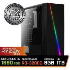 Pc Gamer T-Moba Super Dominator LVL-7 AMD Ryzen 3 3200G / GeForce GTX 1660 6GB / DDR4 8GB / HD 1TB / 500W / RZ3