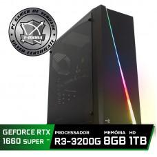 Pc Gamer T-Moba Super Dominator LVL-8 AMD Ryzen 3 3200G / GeForce GTX 1660 Super 6GB / DDR4 8GB / HD 1TB