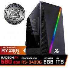 Pc Gamer T-Moba Super Ultimate LVL-4 AMD Ryzen 5 3400G / Radeon Rx 580 8GB / DDR4 8GB / HD 1TB / 500W / RZ3