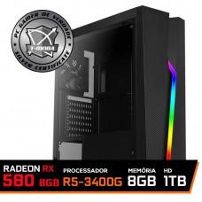 Pc Gamer T-Moba Super Ultimate LVL-4 AMD Ryzen 5 3400G / Radeon Rx 580 8GB / DDR4 8GB / HD 1TB