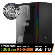Pc Gamer T-Moba Super Ultimate LVL-6 AMD Ryzen 5 3400G / GeForce GTX 1060 6GB / DDR4 8GB / HD 1TB