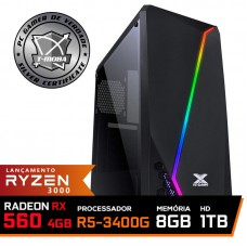 Pc Gamer T-Moba Super Ultimate LVL-2 AMD Ryzen 5 3400G / Radeon Rx 560 4GB / DDR4 8GB / HD 1TB / 500W / RZ3