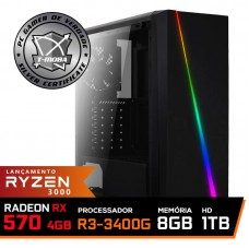 Pc Gamer T-Moba Super Ultimate LVL-3 AMD Ryzen 5 3400G / Radeon Rx 570 4GB / DDR4 8GB / HD 1TB / 500W