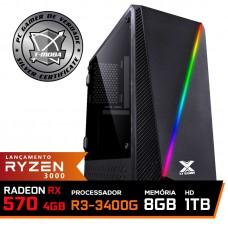 Pc Gamer T-Moba Super Ultimate LVL-3 AMD Ryzen 5 3400G / Radeon Rx 570 4GB / DDR4 8GB / HD 1TB / 500W