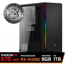 Pc Gamer T-Moba Super Ultimate LVL-3 AMD Ryzen 5 3400G / Radeon Rx 570 4GB / DDR4 8GB / HD 1TB