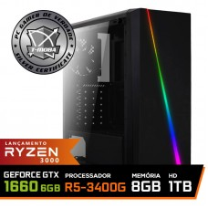 Pc Gamer T-Moba Super Ultimate LVL-8 AMD Ryzen 5 3400G / GeForce GTX 1660 6GB / DDR4 8GB / HD 1TB / 500W / RZ3