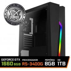 Pc Gamer T-Moba Super Ultimate LVL-8 AMD Ryzen 5 3400G / GeForce GTX 1660 6GB / DDR4 8GB / HD 1TB