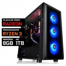 Pc Gamer Tera Edition AMD Ryzen 3 3200G / Radeon Rx 560 4GB / DDR4 8GB / HD 1TB / 600W