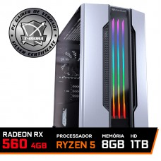 Pc Gamer Tera Edition AMD Ryzen 5 3400G / Radeon Rx 560 4GB / DDR4 8GB / HD 1TB / 500W