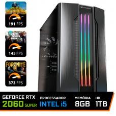 Pc Gamer Maximus Lvl-6 Intel i5 9600KF / Geforce RTX 2060 Super / DDR4 8GB / HD 1TB / 600W