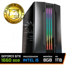 Pc Gamer Maximus Lvl-1 Intel i5 9600KF / GeForce GTX 1660 6GB / DDR4 8GB / HD 1TB / 500W