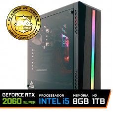 Pc Gamer T-Soldier Lvl-8 Intel Core i5 9400F / GeForce RTX 2060 Super / DDR4 8GB / HD 1TB / 600W