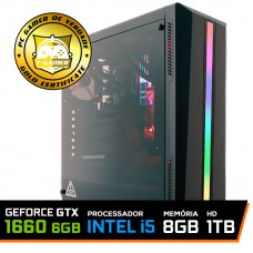 Pc Gamer T-Soldier Lvl-1 Intel Core i5 9400F / GeForce GTX 1660 6GB / DDR4 8GB / HD 1TB / 500W