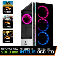 Pc Gamer T-Soldier Lvl-2 Intel Core i5 9400F / GeForce RTX 2060 6GB / DDR4 8GB / HD 1TB / 600W