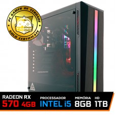 Pc Gamer T-Soldier Lvl-4 Intel Core i5 9400F / Radeon RX 570 4GB / DDR4 8GB / HD 1TB / 500W