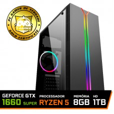 Pc Gamer T-General Lvl-1 Amd Ryzen 5 3600 / GeForce GTX 1660 Super 6GB / DDR4 8GB / HD 1TB / 500W