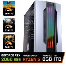 Pc Gamer T-General Lvl-3 Amd Ryzen 5 3600 / GeForce RTX 2060 6GB / DDR4 8GB / HD 1TB / 500W