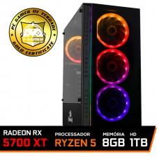 Pc Gamer T-General Lvl-6 Amd Ryzen 5 3600 / Radeon NAVI RX 5700 XT 8GB / DDR4 8GB / HD 1TB / 600W