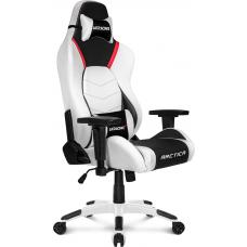 Cadeira Gamer AKRacing, Arctica, Reclinável, White/Black/Red, 10632-2