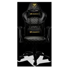 Cadeira Gamer Cougar Armor One Royal, Reclinável, Black/Golden, 3MARRGLD.0001