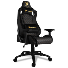 Cadeira Gamer Cougar Armor S Royal, Reclinável, Black/Golden, 3MASRNXB.0001
