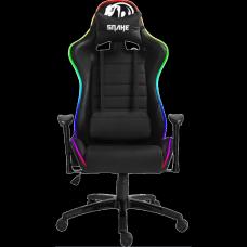 Cadeira Gamer Snake Coral Gaming, LED RGB, Black, Open Box