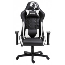 Cadeira Gamer Snake Mamba Negra 9183, Reclinável, Black-White