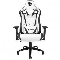 Cadeira Gamer Terabyte White Throne, Reclinável, 4D, Suporta até 145KG, Branco e Preto