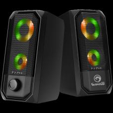 Caixa de Som Gamer Marvo SG-265, RGB, 2x3W, USB, SG265