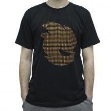 Camiseta Terabyteshop, Unisex, Manga Curta, Algodão, Preto e Laranja, Logo (P)