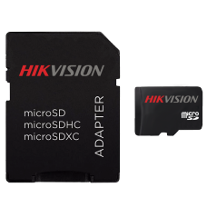 Cartão de Memória Hikvision Micro SDXC I, 256GB, V30, Class 10, HS-TF-C1/256G - COM ADAPTADOR