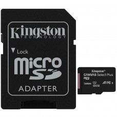 Cartão de Memória Kingston Canvas Select Plus Micro SDXC 64GB, V10, SDCS2/64GB - COM ADAPTADOR