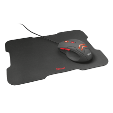 Combo Gamer Mouse e Mouse Pad Trust Ziva 3000 DPI, Led Red, T21963
