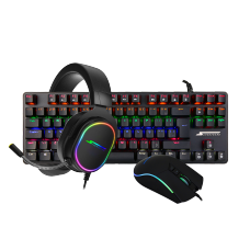 Combo Gamer SuperFrame, Teclado Mecânico Champion + Mouse Gamer Boss + Headset Gamer Velka