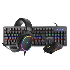 Combo Gamer SuperFrame, Teclado Mecânico Player 1 + Mouse Gamer Big Boss + Headset Gamer Velka