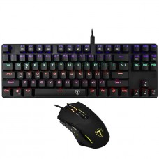 Combo Gamer T-dagger Advance Force 2 em 1, Teclado Mecânico Switch Blue Rainbow, Mouse, T-TGS005