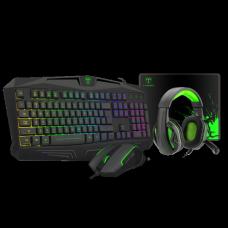 Combo Gamer T-Dagger Legion 4 em 1, Teclado, Mouse, Headset e Mousepad, T-TGS003 PT