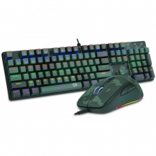 Combo Gamer Redragon, Teclado Mecânico e Mouse Rainbow, Hunter S108